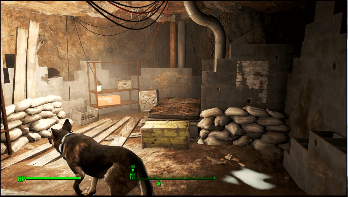 地下食糧保管室内部探索後